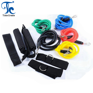 11pcs/set Latex Fitness Resistance Bands Exercise Tubes Practical Elastic Training Rope