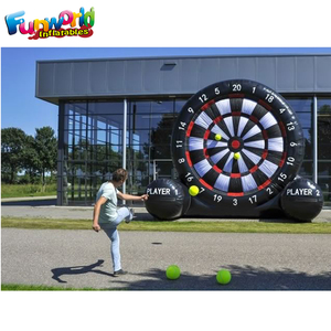 Giant football dart game inflatable soccer game inflatable foot darts for sale