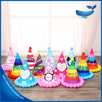 Wholesale Custom Made Paper Happy Party Hat Birthday Cap 18th Hats To