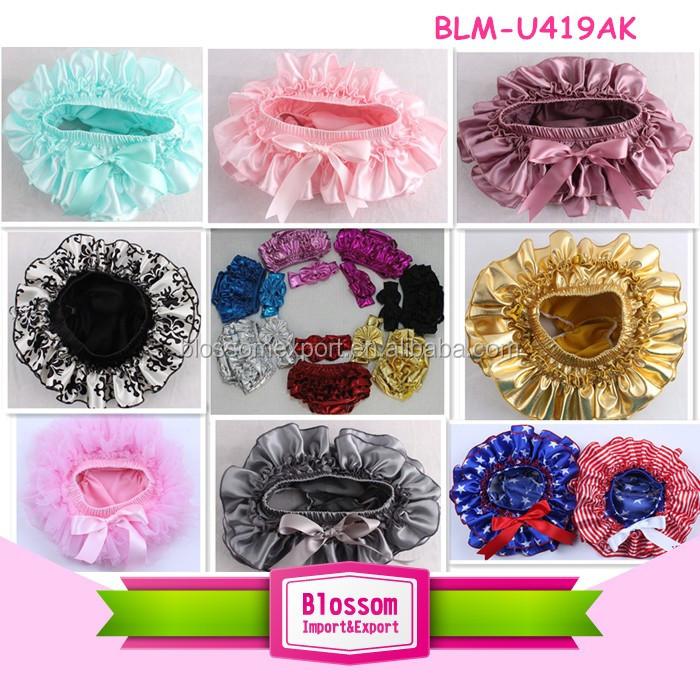 Infant bloomer girls in ruffle panties baby panties bloomer baby diaper cover kids clothing wholesale