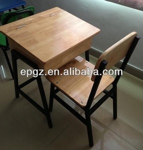 Old School Desks For Sale,Solid Wood School Desk And Chair