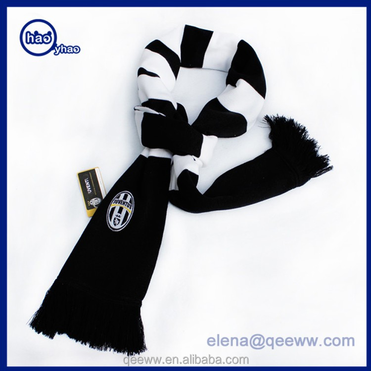 Amazon supplier wholesale acrylic Knit Soccer scarves and Sports Scarf