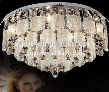 Modern minimalist living room lamp crystal lamp LED lamps personalized restaurant bedroom hallway Art Round Ceiling