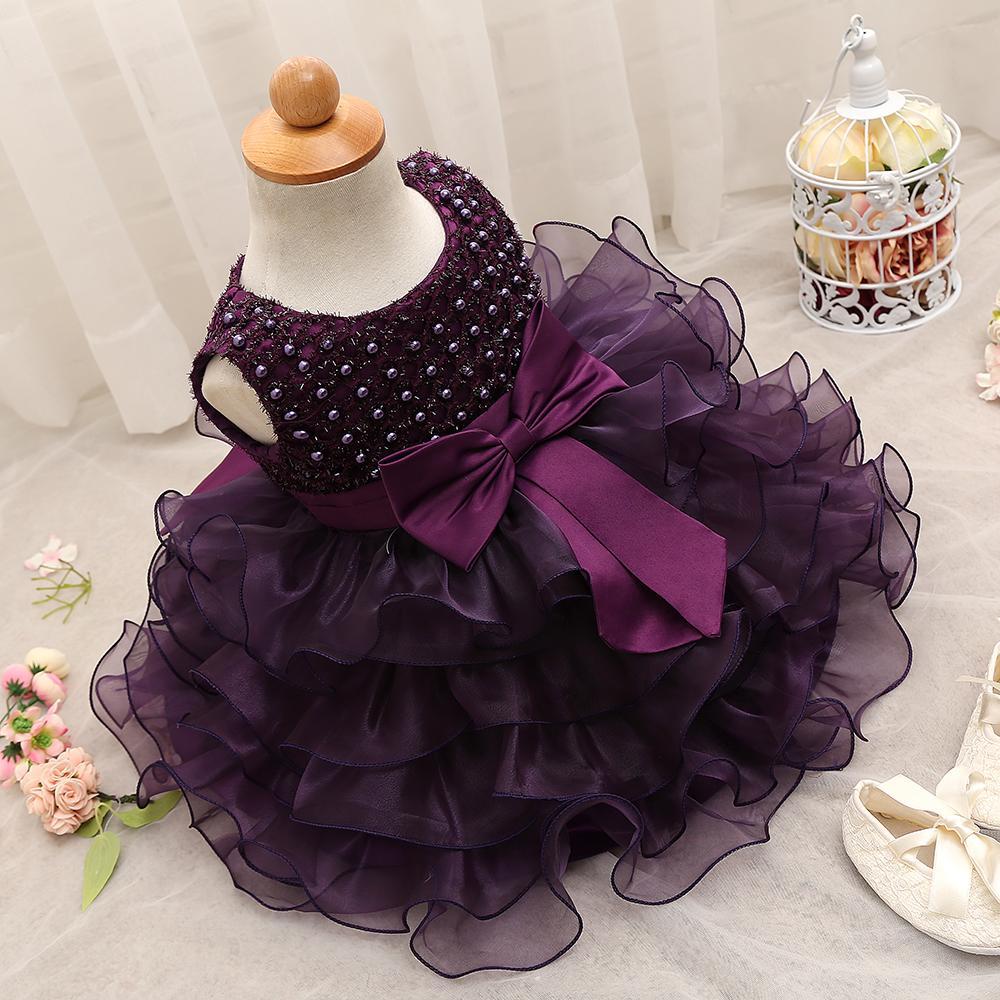 288b06267 2019 Trendy Baby Girl Baptism Clothes Tulle Lush Dress For Girl ...