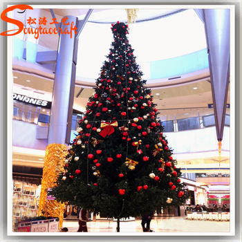 wholesale artificial giant christmas tree light made of plastic for decoration