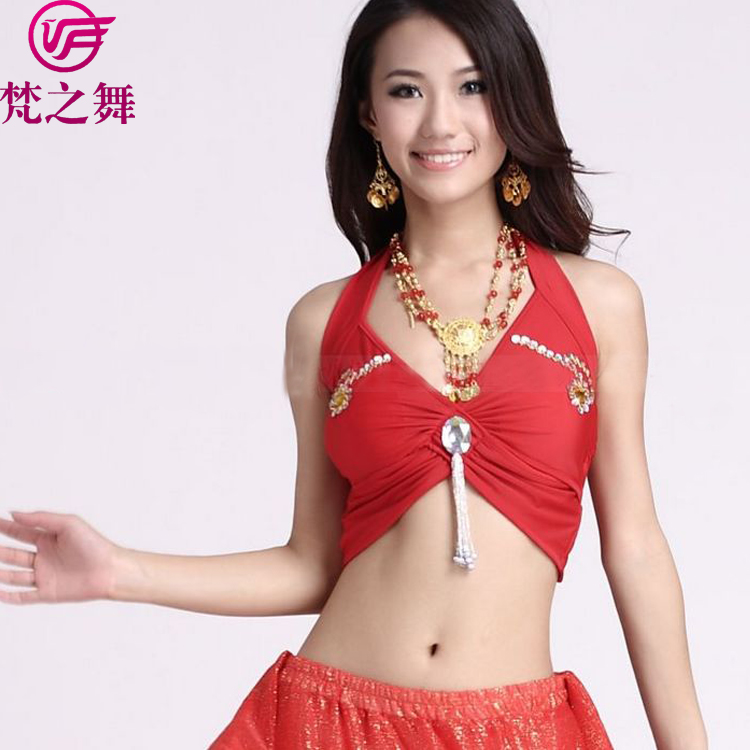 S-3003 Reliable quality crystal cotton egyptian female belly dance arabic top