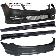 W204 Sport style body kit 07-10y for Mercedes C-CLASS W204 07-10y PP material front bumper side skirts rear bumper