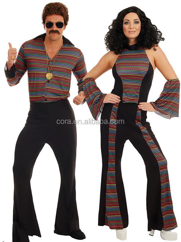 ADULT/'S 1970/'S DISCO JUMPSUIT COSTUME WOMEN/'S 1970/'S FANCY DRESS