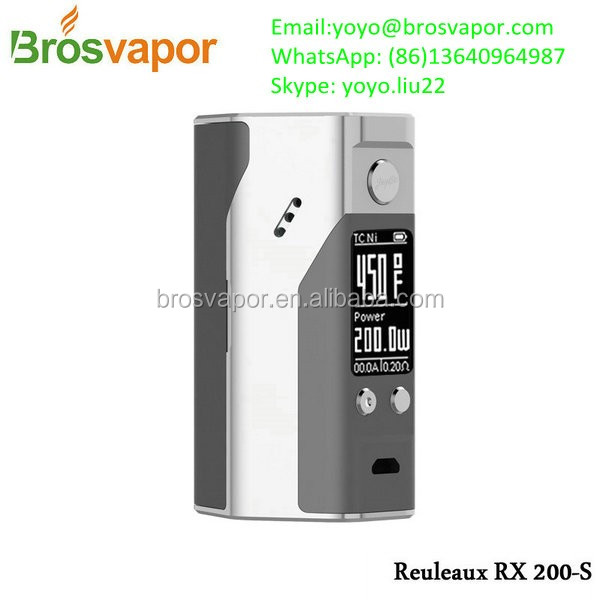 2016 The evolved RX200 box mod 100% original Wismec Reuleaux RX200S Box Mod Updated Wismec Rx200 Stock Shipping