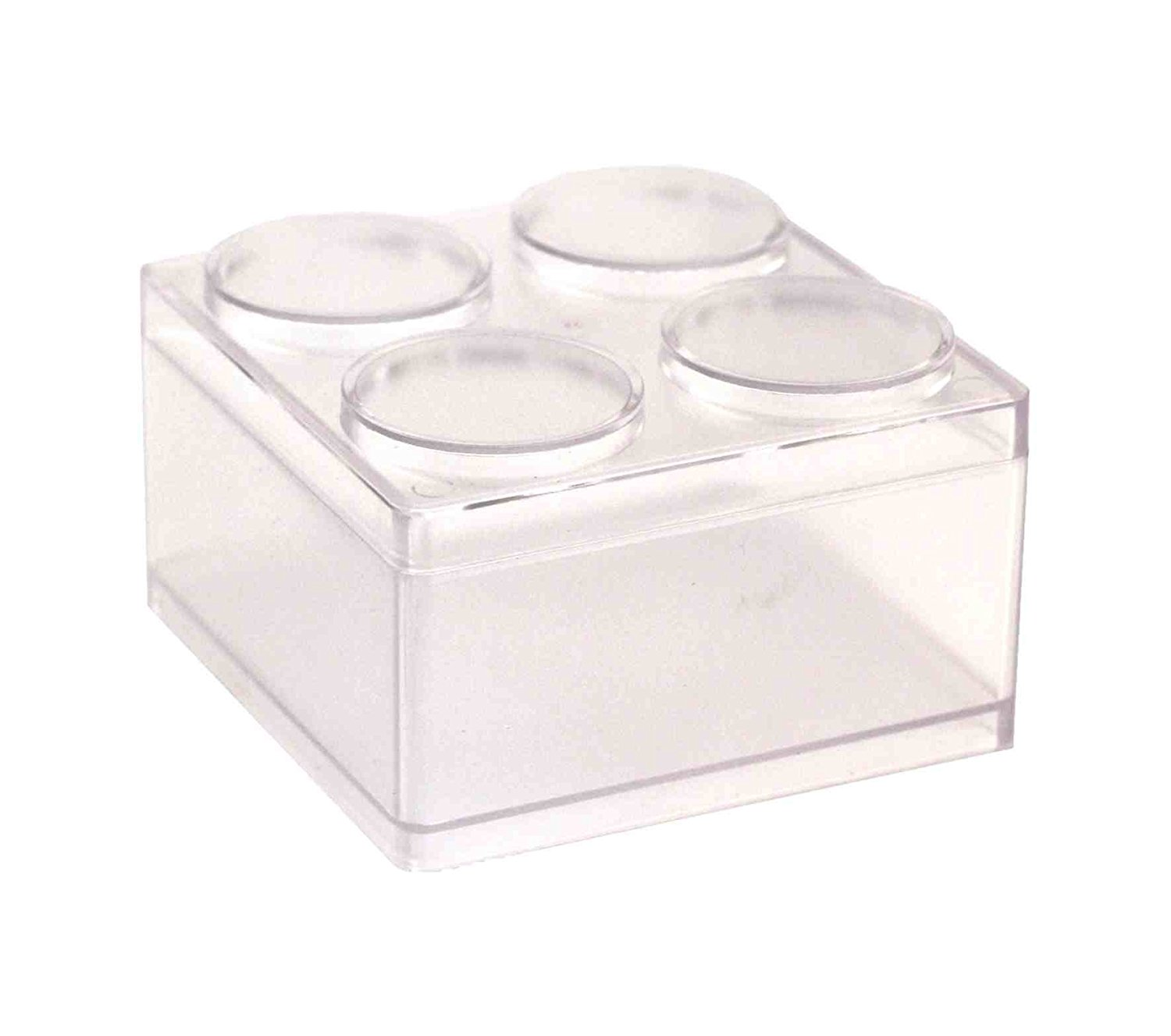 Storage Box, ASAPS Plastic Stackable Storage Cubes Box For Small Items ( Clear)