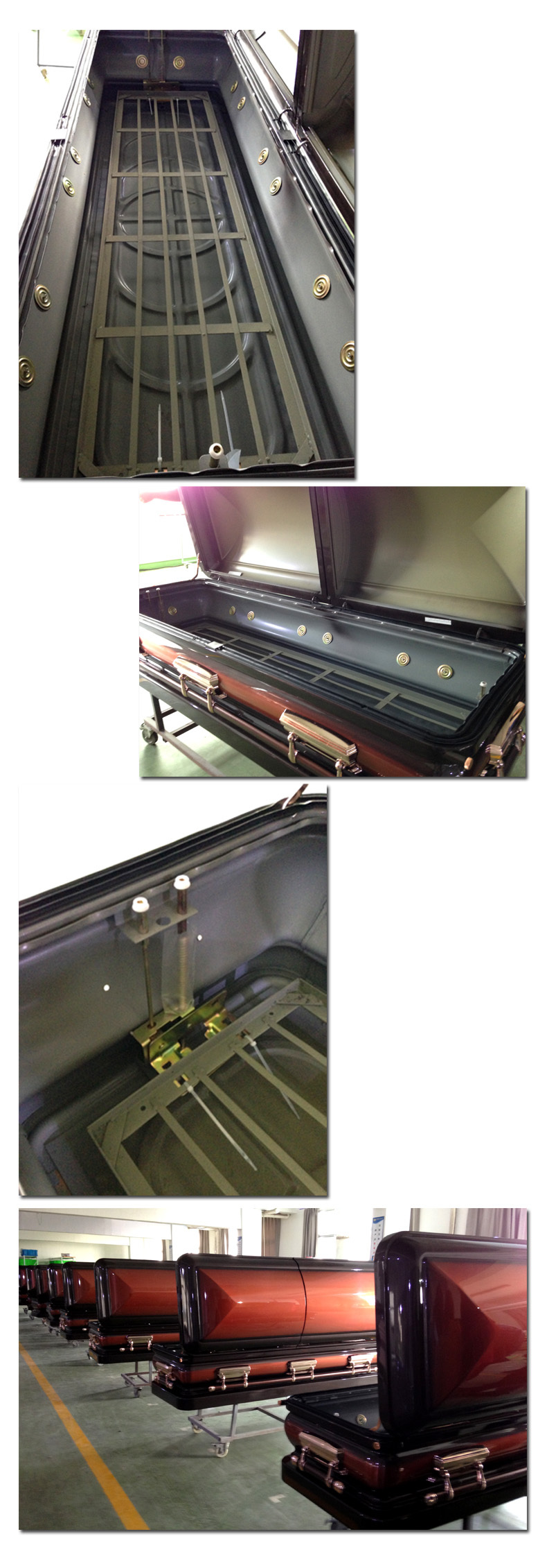 CF-M12 Coffin Type and Adult Application Steel Metal Casket