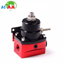 Cina Pemasok Cnc mesin MERAH Adjustable Injected Bypass Fuel Pressure Regulator