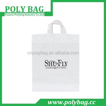 China Plastic Stiff Loop Handle Bag