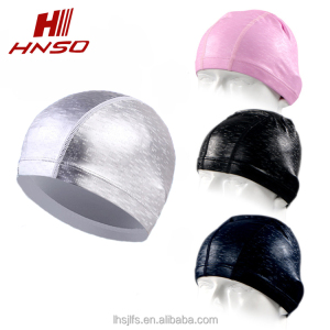 Watersport cool custom print waterproof pu coated swim cap to keep hair dry