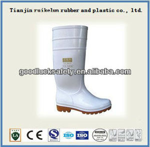 food industry safety boots anti sliding,anti-oil made by pvc material with CE