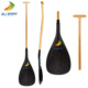Carbon Fiber Outrigger Canoe Paddle With Bent Timber Shaft