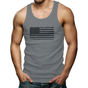 Custom Breathable Cotton Fitness Mens Sports Gym Wholesale Blank Tank Top In Bulk
