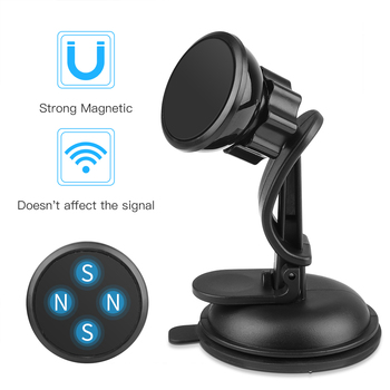 iPhone Cell Phone Holder Mount for Car - Magnetic Super Stick Suction Cup for Dashboard or Windshield for 4-6inches Cellphone