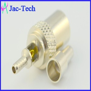 RF connector brass material TV male crimp for RG316/RG174 cable coaxial connector