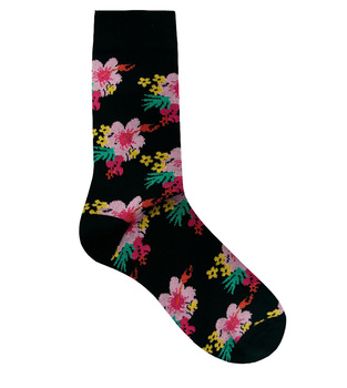 bamboo ankle Socks with Floral Print china custom sock manufacturer