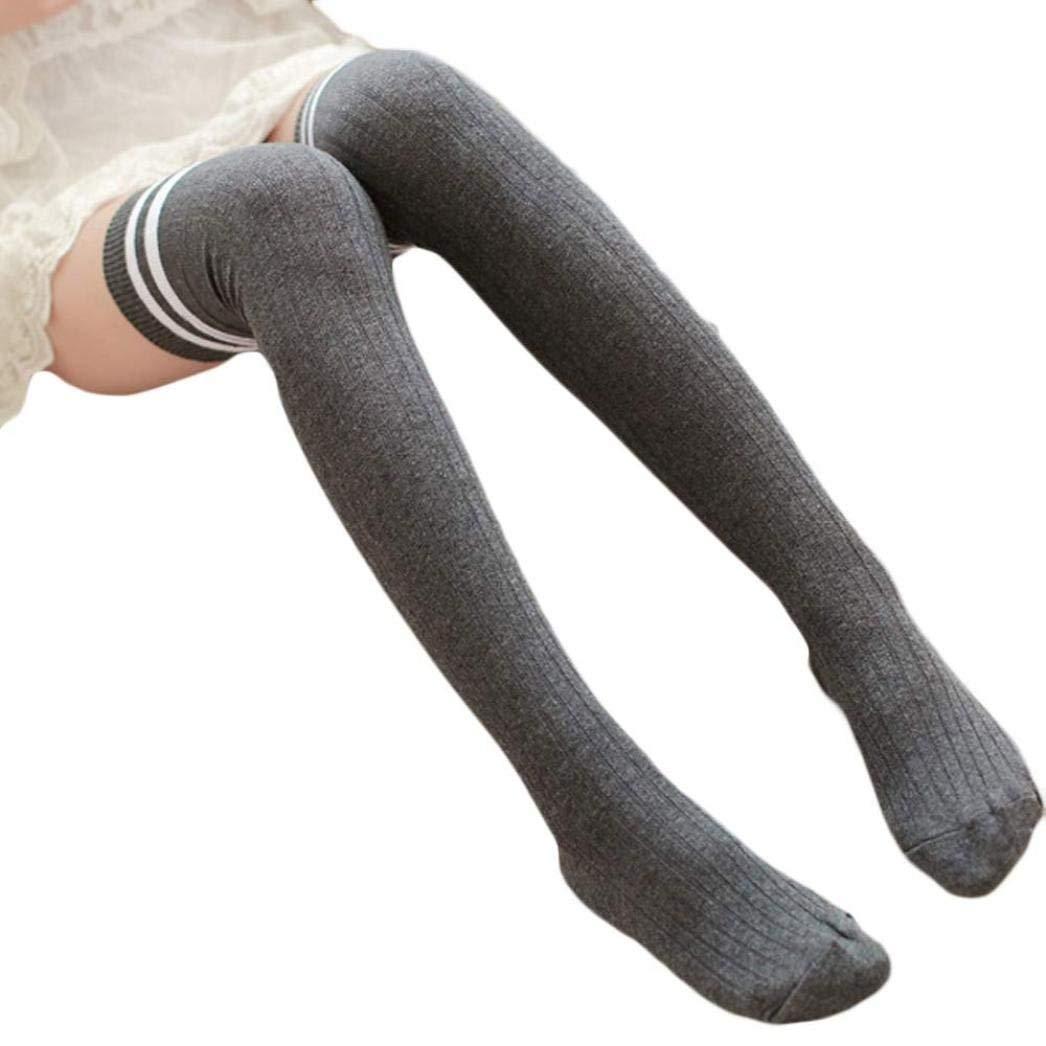 Shineweb Kids Girls Solid Color Bowknot Soft Warm Cotton Long Socks Stockings Leggings Children Socks