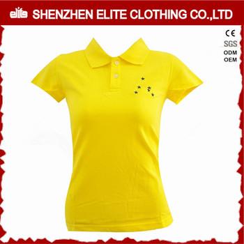 Date Personnalisé Logo Femmes De Golf Polo Chemises Uniforme Jaune ... 90750a34e2e