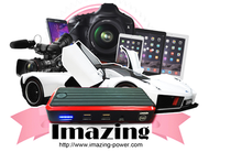 Imazing 12000mah Portable Car Jump Starter Emergency Auto Star Power Bank Battery Charger with LED Lights
