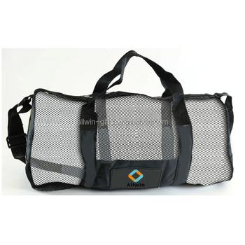 Custom Diving Gear Mesh Duffle Bag With Adjustable Shoulder Strap ... b21a807f70