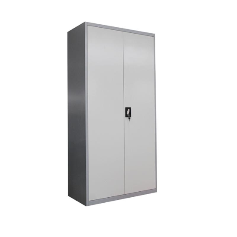Metal Office Storage Filing Cabinet 2 Door Lockable Cupboard 5 Adjustable Shelve