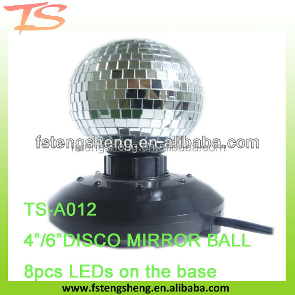 flashing led disco mirror ball with plastic base