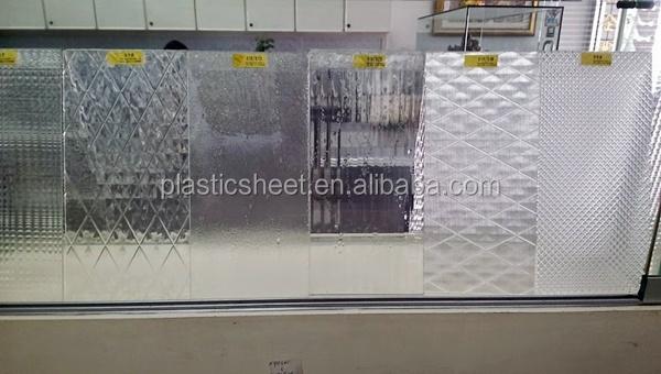 Patterned Polystyrene Plexiglass Plastic Sheet For Shower Door