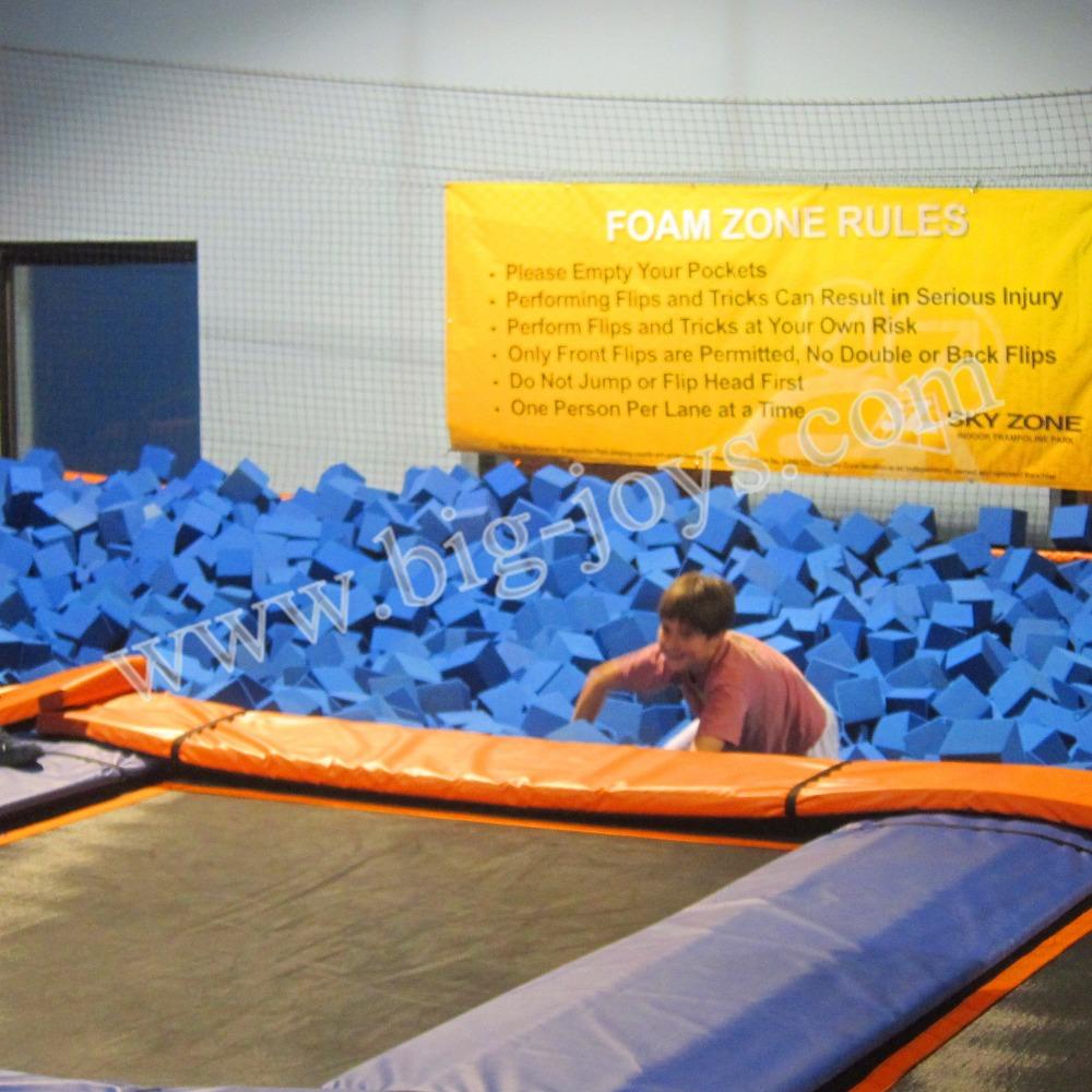 jumping sponge foam pit trampolines with foam pit for sale