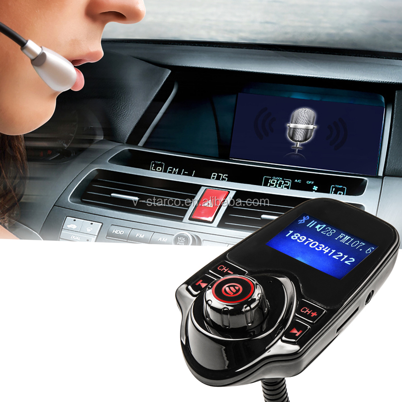 Bluetooth Car MP3 Player Kit FM-Transmitter USB Hands Free Remote Control car kit bluetooth mp3