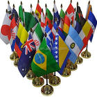 stock cheap polyester mini country flags for desk