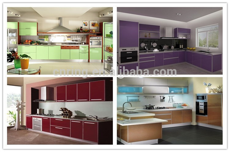 2016 modern high gloss finish lacquer grey kitchen for Kitchen cabinets jeddah