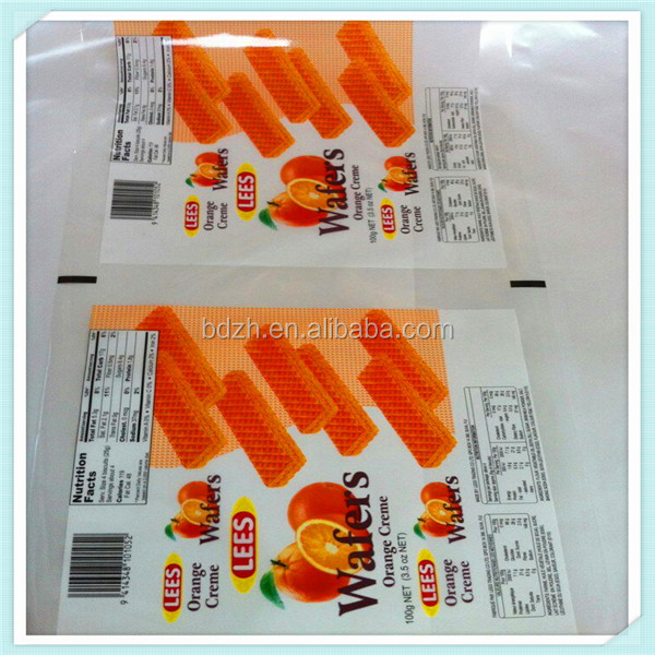 Custom Roll Stock Printed Plastic Packaging Bag Film