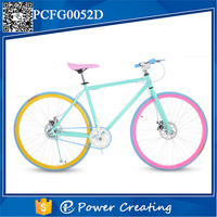 high quality fast shipping women fixed gear bike carbon steel bicycle