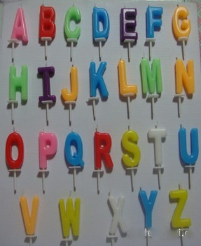 alphabet letters candles