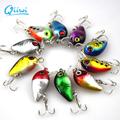 Fishing Accessories 10PCS 3cm 1 15g Fishing Lure Minnow Hard Bait with 3 Fishing Hooks Fishing