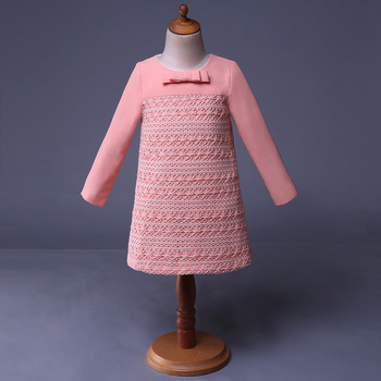 Korean Kids Clothes Wholesale Flower Girl Pink Dress - Buy Flower Girl Pink  Dress,Long Sleeve Party Dresses Juniors,Chinese Traditional Dress Product