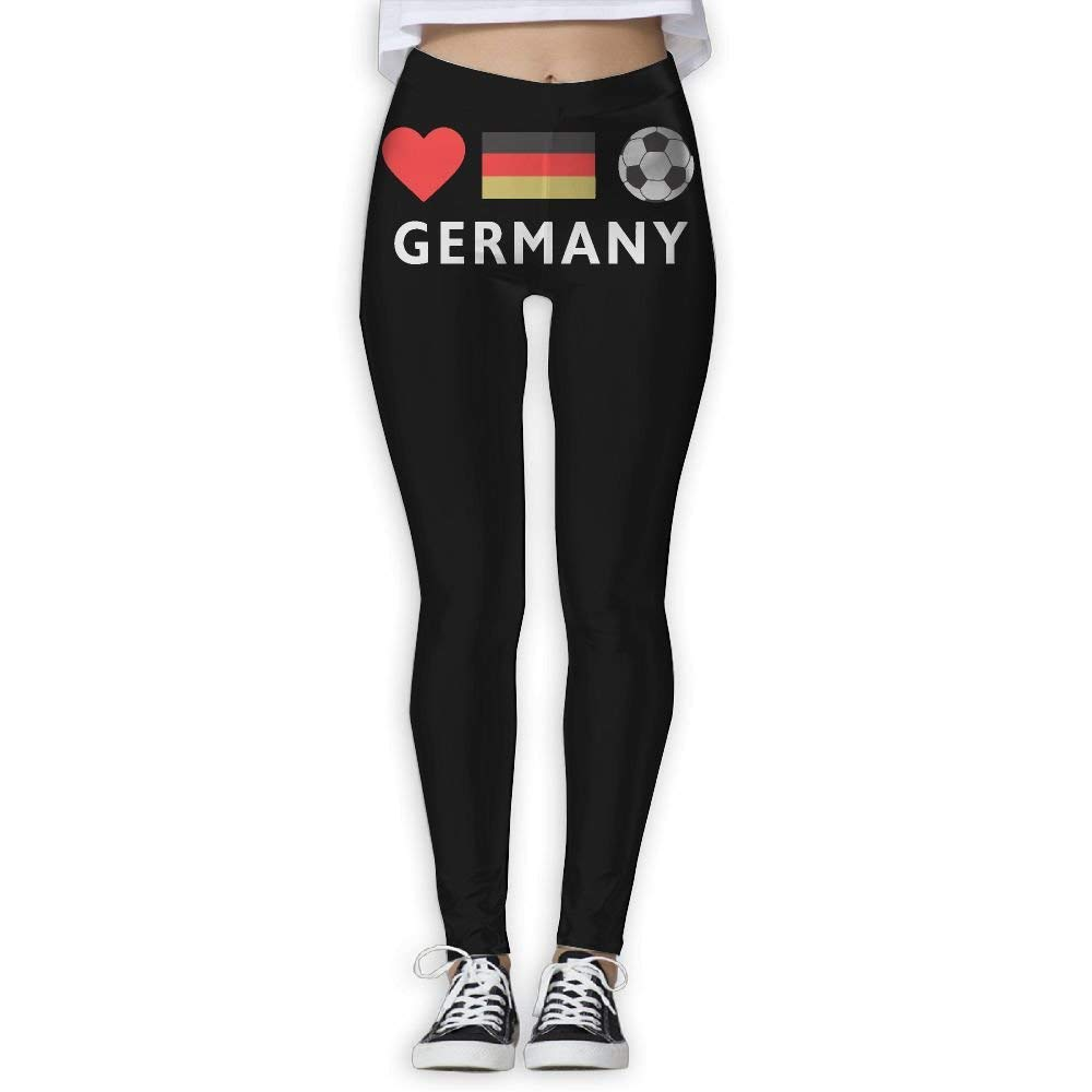 47e34e0d2 Get Quotations · DDCYOGA Germany Football German Soccer Women s Tummy  Control Yoga Leggings Fitness Yoga Sport Pants For Girls