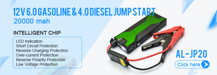 18000mah LCD display waterproof power bank jump starter with 2 usb output ports