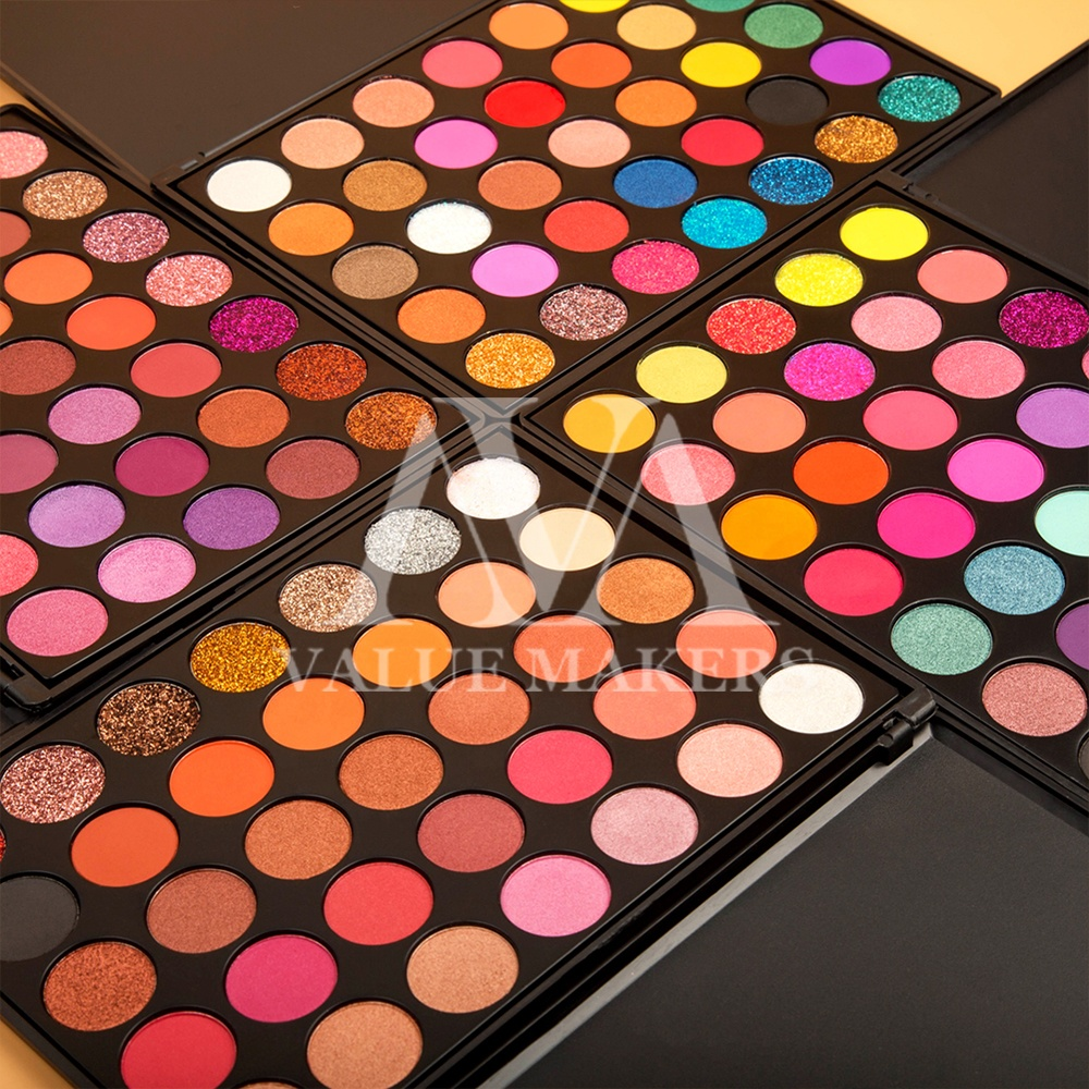 थोक प्रिंट लोगो कम Moq 35 रंग मेकअप नेत्र छाया उच्च Pigmented कस्टम निजी लेबल आंखों के छायाएं पैलेट