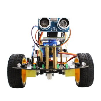 2018 new educational UNO R3 smart robot car kit and electric starter kit 2in1 with APP for Uno R3 board