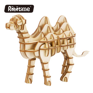 Robotime wooden kids toys Camel woodcraft construction kit for educational toys