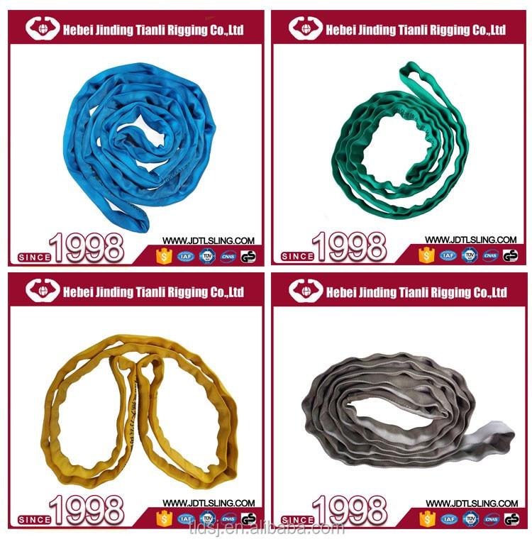 Unggul Polyester Filamen Industri 2 Ton Kargo Hijau Warna 50mm Lebar Anyaman