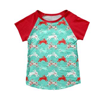 2019 T Shirts Boys Fashion Wholesale Summer Short Rabbit Fabric