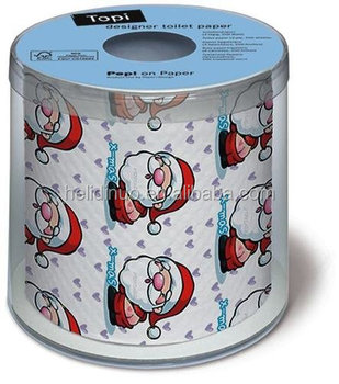 Christmas Printed Santa Deep In Love Designer Toilet Wrapping Paper