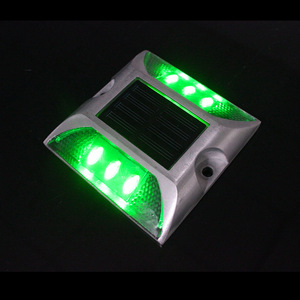 New arrival green LED light road safety solar road marker