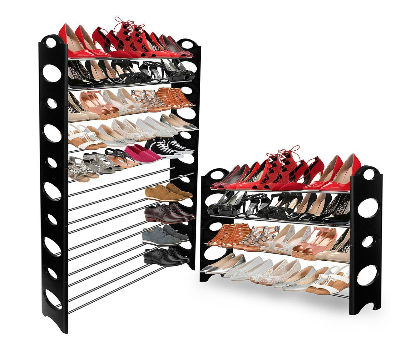 Shoe Rack for 50 Pair OxGord! Wall Bench Shelf Closet Organizer Storage Box Stand
